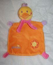 BABYSUN BABY SUN DOUDOU PLAT POULE POUSSIN CANARD ORANGE JAUNE GRELOT FLEUR KOM9