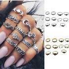 11PCS Silver Punk Vintage Arrow Ring Set Women Retro Finger Rings Boho Jewelry