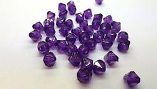 25g - 8mm Dark Lilac Acrylic Faceted Bicone Beads - A5338