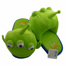 Unisex Toy Story Alien Green Men Winter Warm Home Soft Plush Slipper Shoes 3D