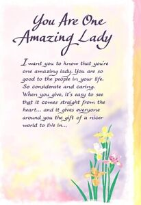 Blue Mountain Arts Sentimental Card: Someone Special - You are One Amazing Lady