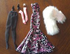 BARBIE SILKSTONE DOLL - GOWN & FUR STOLE - '45th ANNIVERSARY' - CLASSIC DRESS