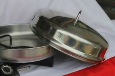 """FARBERWARE 344 SKILLET 12"""" ALUM CLAD STAINLESS STEELE MADE IN USA"""