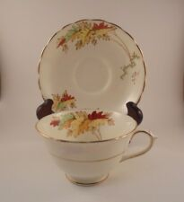 Tuscan China Tea Cup & Saucer Leaf Pattern Bone China Made in England
