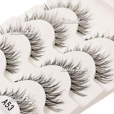 Beauty 5 Pairs Makeup Handmade Natural Fashion Long False Eyelashes Eye Lashes