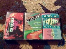 80s Music 3 CASSETTE LOT Rockers Seems Like Yesterday New Wave