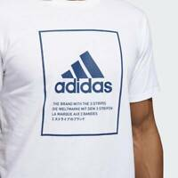 BRAND NEW $30 adidas Men's BADGE OF SPORT EMBLEM TEE WHITE DV1872