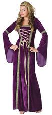 Renaissance Deluxe Lady Fun World Costume Purple Womens Halloween Medium/Large