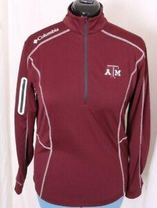 Texas A&M TAMU Aggies Columbia Golf Pullover Omni-Wick 1/4 Zip shirt  Men's S
