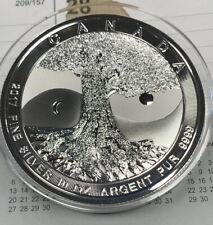 2017 10oz. .999 Fine Silver $50 Canada Coin Round TREE OF LIFE in Capsule BU -A