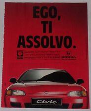 Advert Pubblicità 1993 HONDA CIVIC