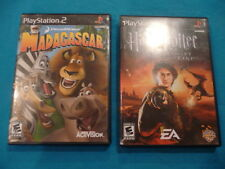 Madagascar AND Harry Potter and the Goblet of Fire PS2 Sony 2 Games PlayStation2
