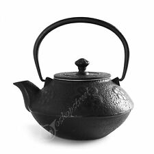 800ml Black Tetsubin Kettle Plum Blossom * Cast Iron Tea pot with Infuser Filter