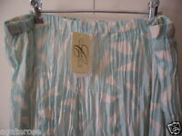 BRAND NEW WITH TAGS CLASSICS BRAND GREEN WOMENS SKIRT SIZE 18 20 CRINKLE EFFECT