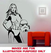 Star Wars Stormtrooper Vinilo Pegatina de Pared Removible Arte Calcomanía Decoración Habitación Niños