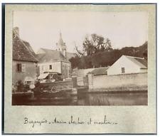 France, Buzançais, Ancien Clocher et Moulin  Vintage print. Tirage citrate