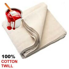 2 LARGE 12ft X 9ft PROFESSIONAL CONTRACTOR  DUST SHEET 100% COTTON TWILL