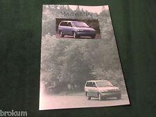 1990 MAZDA MPV VAN ORIGINAL SALES BROCHURE MINT (BOX 504)