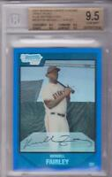WENDELL FAIRLEY 2007 BOWMAN CHROME DRAFT PICKS BLUE REFRACTOR #034/199 BGS 9.5