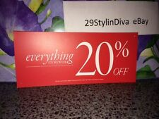 Discount signs for retail store 20% off  Rectangular shape USED