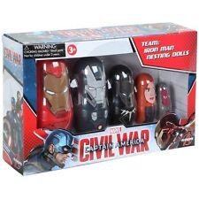 CAPTAIN AMERICA 3 - Team: Iron Man Nesting Doll 5-Piece Set (PPW Toys) #NEW