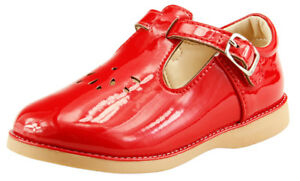 Toddler Girls Dress Classic Shoes T-strap Mary Jane Toddler Glossy Red Navy Pink