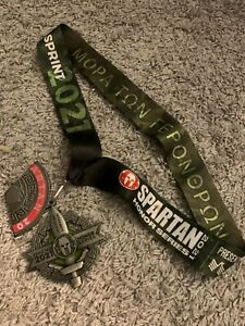 2021 Honor Series Spartan Sprint Finisher Medal and Trifecta Wedge