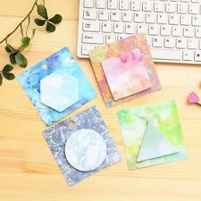 2pcs Random Color Cute Office Supplies Memo Pad Sticky Notes Stickers Paster