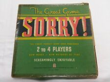 Vintage The Great Game SORRY! John Sands circa 1940's