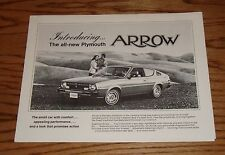 Original 1976 Plymouth Arrow Foldout Sales Brochure 76