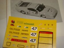FERRARI 512 BB CH POZZI LE MANS 1979 DECALS 1/43 DECALCOMANIA FDS AUTOMODELLI