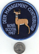 1987 NOVA SCOTIA SUCCESSFUL DEER HUNTER PATCH-MICHIGAN DEER-BEAR-MOOSE-PATCHES