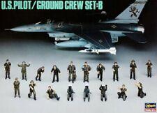 Hasegawa X48-5 1/48 Aircraft Navy Figure Model Kit U.S Pilot Ground Crew Set B
