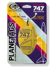 Aluminium Anhänger aus echter Thai Airways Boeing 747-400 / Planetags /  HS-TGM