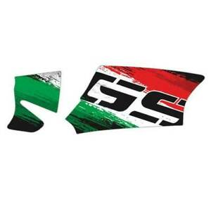 Motorcycle USA Italy Flag Reflective Decal Case for BMW R1200GS R1250GS Sticker