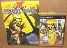 Shin Megami Tensei: Persona 4 + Bonus Disc New Sealed + Visual Data Artbook PS2