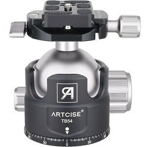 ARTCISE TB54 54MM Low Profile Ball Head  All Metal CNC Heavy Duty Tripod Head