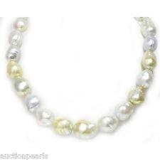 South Sea baroque Pearl Necklace Multicolor 14 - 18mm 14kt