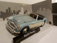 AUSTIN HEALEY 100/6 MODEL CAR 1:43 SCALE BLUE/WHITE CARARAMA SPORTS