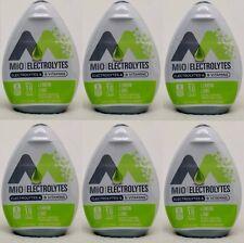 6 Mio Electrolytes Liquid Water Enhancer LEMON LIME 108 Servings Total