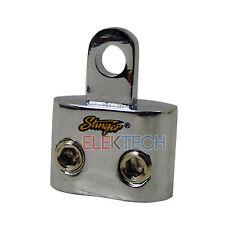 """Stinger SPT5201 Dual Ring Terminal 1/0ga Input to 5/16"""" Ring Shoc-Krome Plating"""