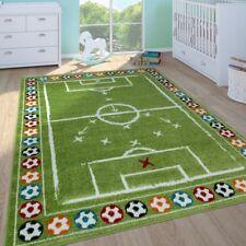 Kinderteppich Jungen Kinderzimmer Spielteppich KurzflorFußballfeld In Grün