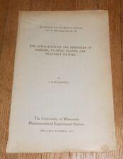 1919 Antique Medical Pamphlet Breeding Drug Plants Particularly Datura