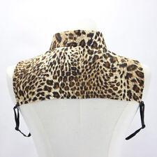 Women Leopard Print Detachable Collar Blouse Ladies Fit Clothing Accessories D