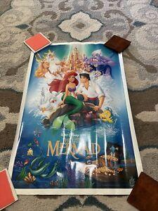 Vintage Disney The Little Mermaid Original Movie Poster 1989 27x17  BANNED