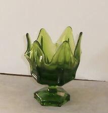 """Viking Epic Column Ribbed Vase Napkin Holder Avocado w/Label 6"""""""