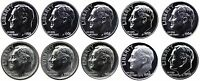 1960-1969 S 90% Silver Roosevelt Dimes Gem Proof & SMS Run 10 Coins US Mint