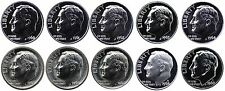 1960-1969 S 90% Silver Roosevelt Dimes Gem Proof & SMS Run 10 Coins US Mint