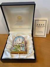 """Halcyon Days """"Metropolitan Opera"""" Enamel Clock"""