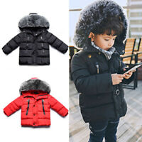 Warm Thick Outwear Coat Winter Autumn Overcoat Kids Boys Toddlers Padded Jacket